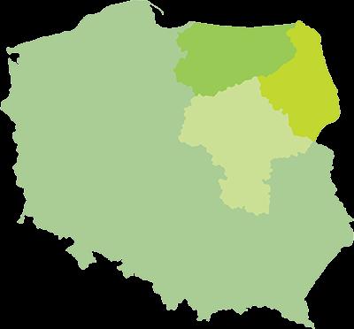 Działamy w podlaskim, mazowieckim i warmińsko-mazurskim