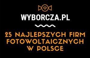 Agrosolar w czołówce firm fotowoltaicznych według wyborcza.pl